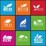 Ecologia, insieme dell'icona. Eco-icone Fotografie Stock
