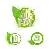 Ecologia, insieme organico dell'icona Eco-icone di vettore Immagine Stock Libera da Diritti