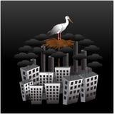 Ecologia má da cidade ilustração stock