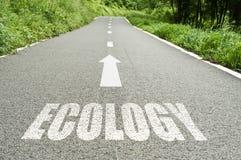 Ecologia na estrada Fotos de Stock Royalty Free