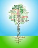 Ecologia - poster ambiental Imagens de Stock