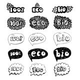 A ecologia rabisca o grupo do ícone Imagens de Stock