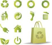 ecologic σύνολο εικονιδίων ελεύθερη απεικόνιση δικαιώματος