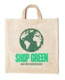 Ecologic bag. Isolated on white background Stock Photo
