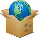 Ecologic box Royalty Free Stock Image