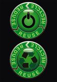 Ecologic button Royalty Free Stock Photos