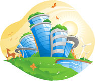 Ecologic city illustration Royalty Free Stock Images
