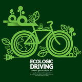 Ecologic Driving Green Concept. Royalty Free Stock Photos