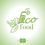 Ecologic food logo. Royalty Free Stock Photo