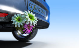 Ecologic fuel concept with flowers Stock Photo