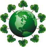 Ecologic globe Stock Image