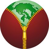 Ecologic globe Royalty Free Stock Image