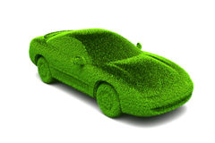 Ecologic green car. With grass surface Stock Photo