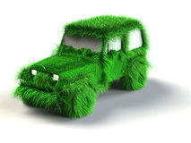 Ecologic green car Royalty Free Stock Image