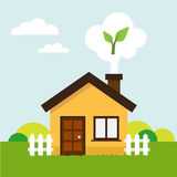 Ecologic house Stock Image