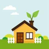 Ecologic house Royalty Free Stock Image