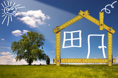 Ecologic House in the Countryside Stock Images