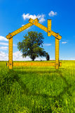 Ecologic House in the Countryside Royalty Free Stock Photography