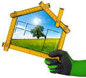 Ecologic House Project Concept Stock Photography