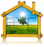 Ecologic House Project Concept Royalty Free Stock Photography