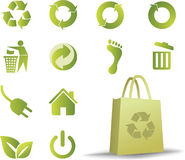 Ecologic icon set Stock Photography
