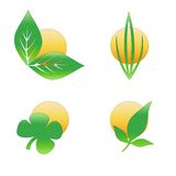 Ecologic logo Stock Photo