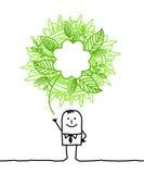 Ecologic man Royalty Free Stock Image