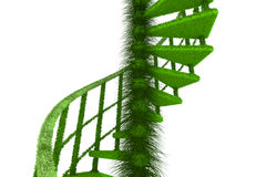 Ecologic nature spiral stairs. Rendered ecologic nature spiral stairs Royalty Free Stock Photo