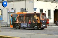 Ecologic public bus in Italy Royalty Free Stock Image