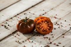 Ecologic röda Cherry Tomato Mixed fotografering för bildbyråer