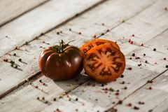 Ecologic rood Cherry Tomato Mixed stock afbeelding