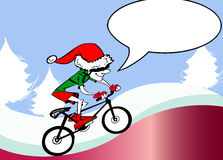 Ecologic Santa Claus riding bike Stock Photography