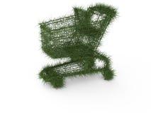 ecologic shopping för vagn royaltyfri illustrationer