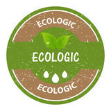 Ecologic stamp Royalty Free Stock Image