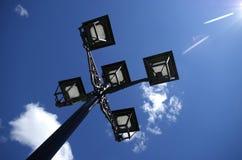Ecologic streetlight Fotografering för Bildbyråer