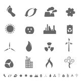 Ecologic symbols icon set Royalty Free Stock Photography