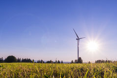 Ecologic windmill for electricity production Royalty Free Stock Photography