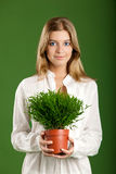 Ecologic woman Stock Photos