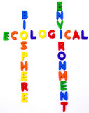 Ecological. Crossword with different and amazing colors Royalty Free Stock Photography