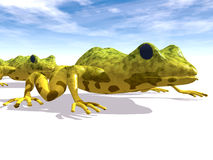 Ecological abstract with frogs Royalty Free Stock Images