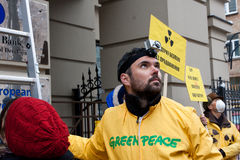 Ecological action of Greenpeace Stock Photography