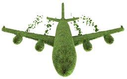 Ecological air travel concept. 3D render of ecological air travel concept isolated on white vector illustration