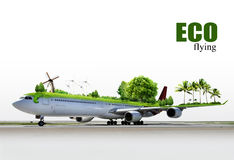 Ecological air travel. The environmental of aviation, concept Royalty Free Stock Images