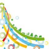Ecological background. Ecology concept you can use on Earth Day Vector Illustration