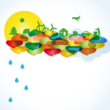 Ecological background. Ecology concept you can use on Earth Day Royalty Free Illustration