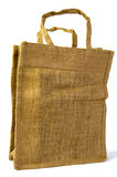Ecological bag. A brown re-usable market bag isolated on white Stock Photos