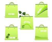 Ecological bags, cdr vector. Set of ecological bags with different design vector format Royalty Free Stock Image