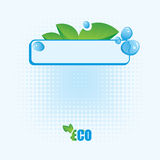 Ecological banner. 100% natural product Stock Images