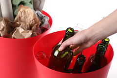 Ecological bins Royalty Free Stock Images