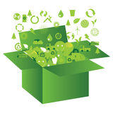 Ecological box Stock Photography